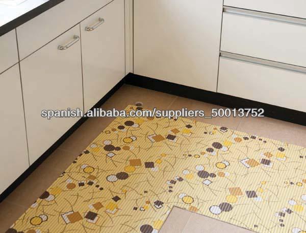 Cocina impresa de espuma de pvc antideslizante alfombra - Alfombras para cocina ...