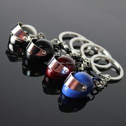 hot sale Stainless Steel Keychain Creative Motorcycle Helmet Keyring