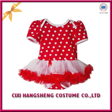 Cixi Baby Girl Colorful Red Heart Tutu Dress Romper