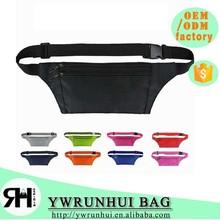 fashion designer waist bag anti-theft money belt bag sports running belt bag