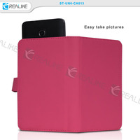 Stylish smooth pu leather for mobile phone case,Caso de cuero universal
