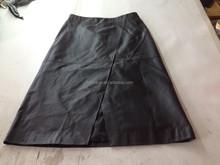 2015 women' genuine lamb leather skirt