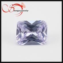 Lavender octgon shinning pincess cut gemstone