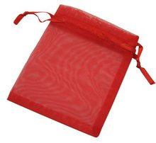 Organza Bags Wholesale for Christmas or Valentine, Rectangle, Red(OP-002-2)