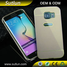 High Quality Ultra Thin Aluminum Metal Frame + PC Back Cover Case For Samsung galaxy s3 s4 s5 s6 s6 edge note 2 3 4