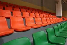 Cheap indoor blow molding fixed plastic stadium seats
