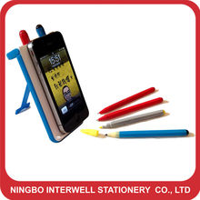 Promotional desktop pen set 6 in 1 phone shape pen set
