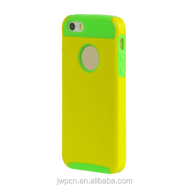 2014 Hot Style PC+Silicone Hybrid Phone Case For iPhone 5S Como Case