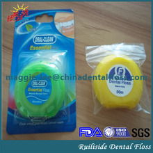 60yards dental floss dispenser oem product supply with customized floss thread fiber