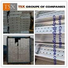 metal scaffolding plank with hooks