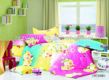 100% cotton child design colorful cartoon printed bedding set / home textile