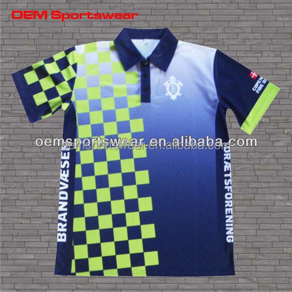 Custom design color combination polo t shirts for sports for Custom full color t shirts