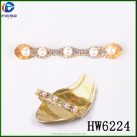 Hw6224 AB color rhinestone with high quality pearl shoe decoration shoe accessories