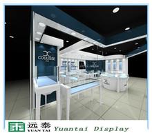 Elegant furniture design for jewelry shop, glass showcase display