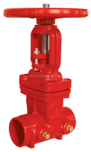 HIGH QUALITY UL FM 200PSI RISING STEM GROOVED END GATE VALVE