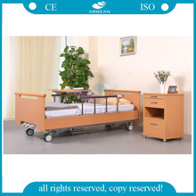 AG-WS001 CE approved 3 functions solid wood nursing home beds