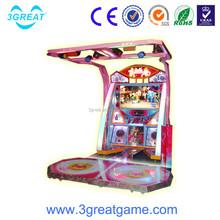 Arcade popular arcade coin operated dancing game machine