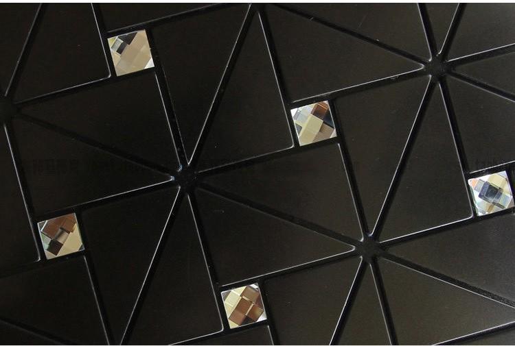 Moderne noir dosseret de cuisine carreaux de salle de for Dosseret aluminium cuisine