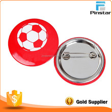 cheap custom promotional gift round blank tin button badge