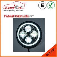 Qeedon Hard Coated UV resistant finish led headlamp 7 inch round sliver