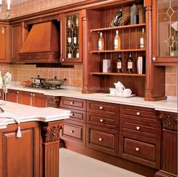 Cheap price wooden design kitchen cupboard