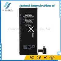 Black 3.7V 1430mAh Li-ion Battery for iPhone 4S Mobile Phone Battery