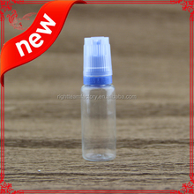 flat childproof&tamper cap pet plastic dropper bottle pet bottle 10ml ejuice with the Braille triangle mark