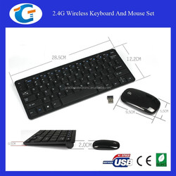 2.4G Wireless Keyboard And Mouse Set For Laptop PC