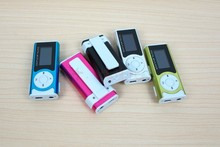 New Portable Colorful Clip LCD Screen 5 Colors Mini Clip MP3 Music Player with LED light