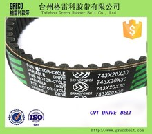 variable speed v belt for motorcycle and machine