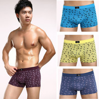 High quality men's modal printing boxer shorts underwear 3XL