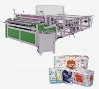 Automatic Embossed Rewinding Roll Toilet Tissue Processing Machine