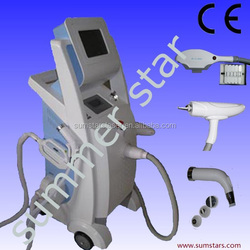 Factory promotion multifunctional e-light ipl rf yag beauty salon equipment/hair removal beauty equipment