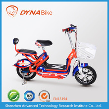two wheels electric motorbike for sale with rechargeable lead-acid battery & brushless dc motor from DYNABike factory