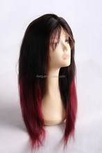 Design hot selling wedding jaunty straight full lace wig