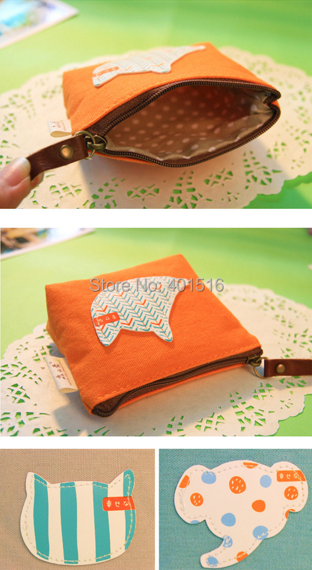 2014 New Korea Style PU Square Cute Scottish-style Purse / Coin Bag