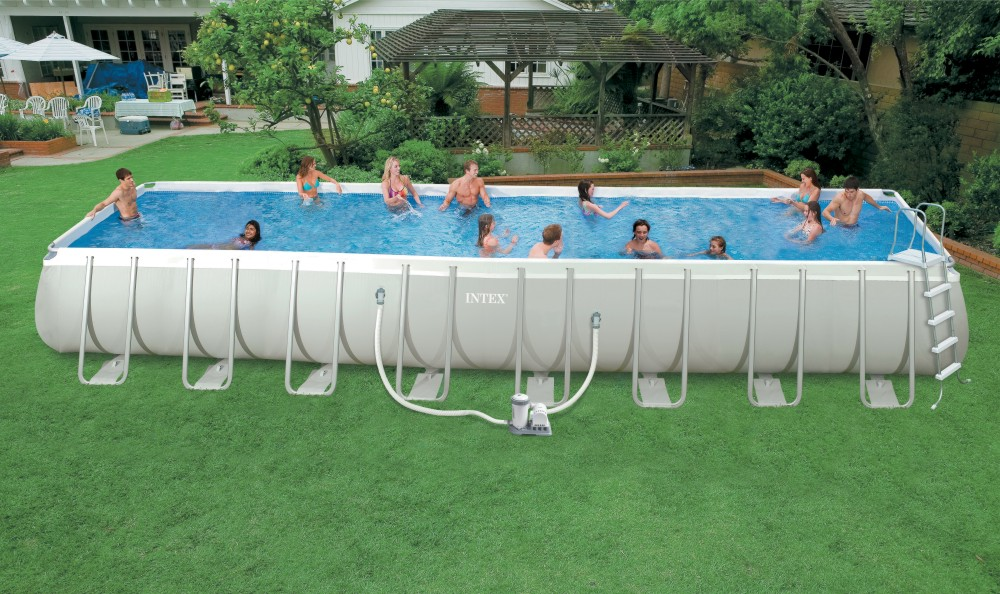 Timeproof rectangular frame swimming pool above ground swimming pool big frame pool buy for Large above ground swimming pools