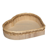 High quality popular heart shaped wood chocolate box tray