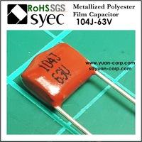CL21 MEF Metallized Polyester Film Capacitor 104J 63V Capacitor