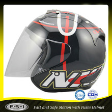Low price promotion black half open face cool moto helmet