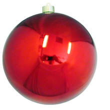 Fashionable vacuum formed large plastic Christmas ball for decoration