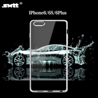 TPU transparent case for iphone 6 plus, mobile phone case with camera protecting