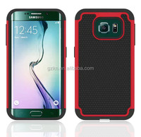 2015 New arrival TPU+PC+Silicone Heavy Duty Rugged Armor Case tough rubber cover For Samsung Galaxy S6 Edge