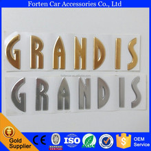 18*4.5cm Car ABS Gloden Silver Chrome Grandis Rear Emblem 3D Letter Sticker Tail Badge Auto Logo