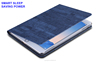 Wake/Sleep function fold design flip stand leather tablet case heat resistant cover for ipad mini 1 2 3