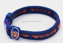NCAA GEORGIA-BULLDOGS team logo nylon survival silicone bracelet nylon bracelet metal