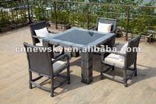 outdoor garden furniture PE round rattan dining room furniture