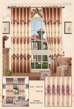 Semi blackout 100% polyester stripe fabric curtain, chinese curtain