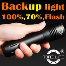 Tonelife TL3502 Mini Backup Diving Light/Diving Mask Torch/Underwater Flashlight with 1000 Lumens 3Modes Rotary Switch