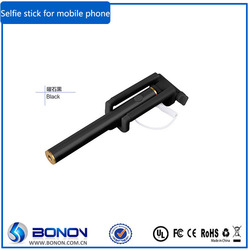 2015 Promotion Custom Pocket Selfie Stick With Cable for mobile phone,selfie stick for iphone6